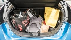 Nissan Leaf e+ Tekna: il vano di carico pieno