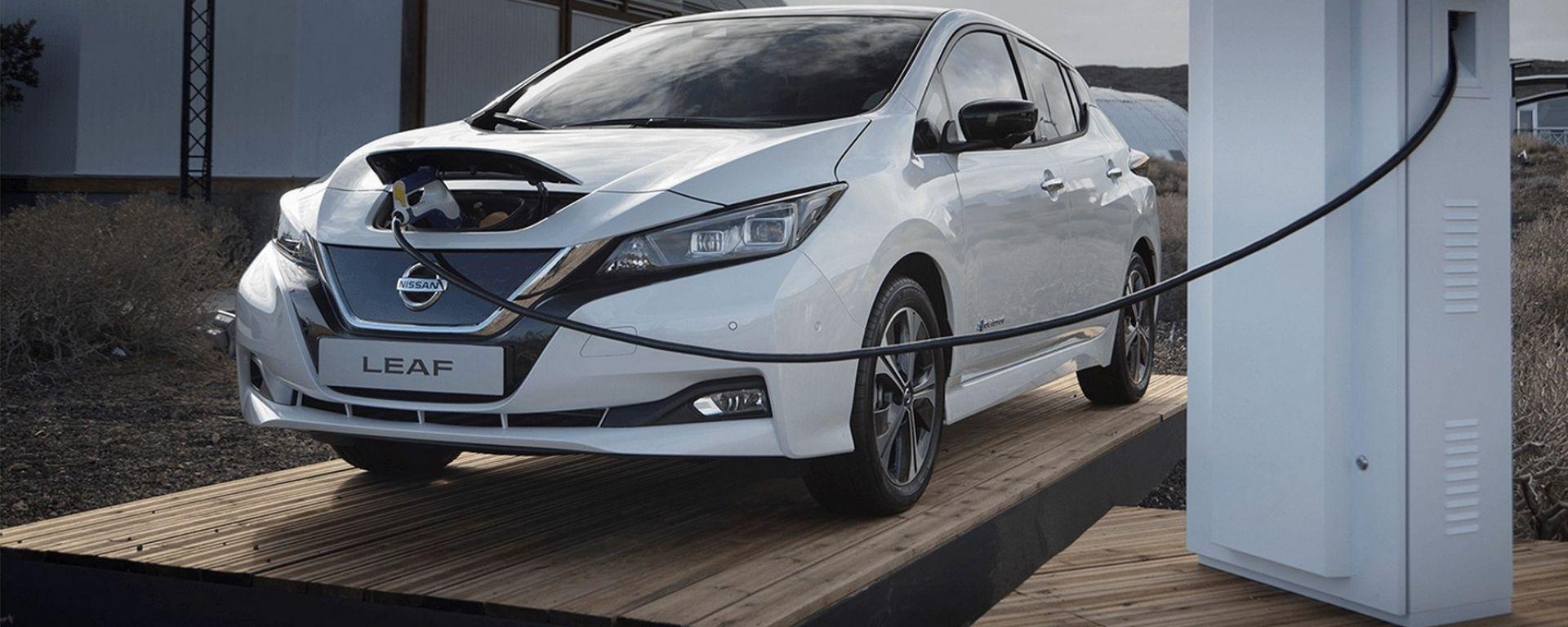 Nissan Leaf, ricarica rapida, ma forse non così rapida