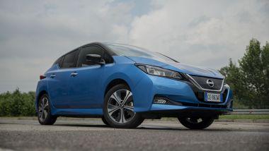 Nissan Leaf10 2021: il 3/4 anteriore