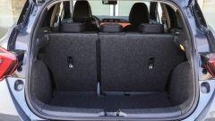 Nissan Micra 2017: bagagliaio nella media, con una capacità che va da 300 a 1.004 litri