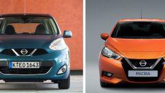 Nissan Micra 2017 vs Nissan Micra fine serie