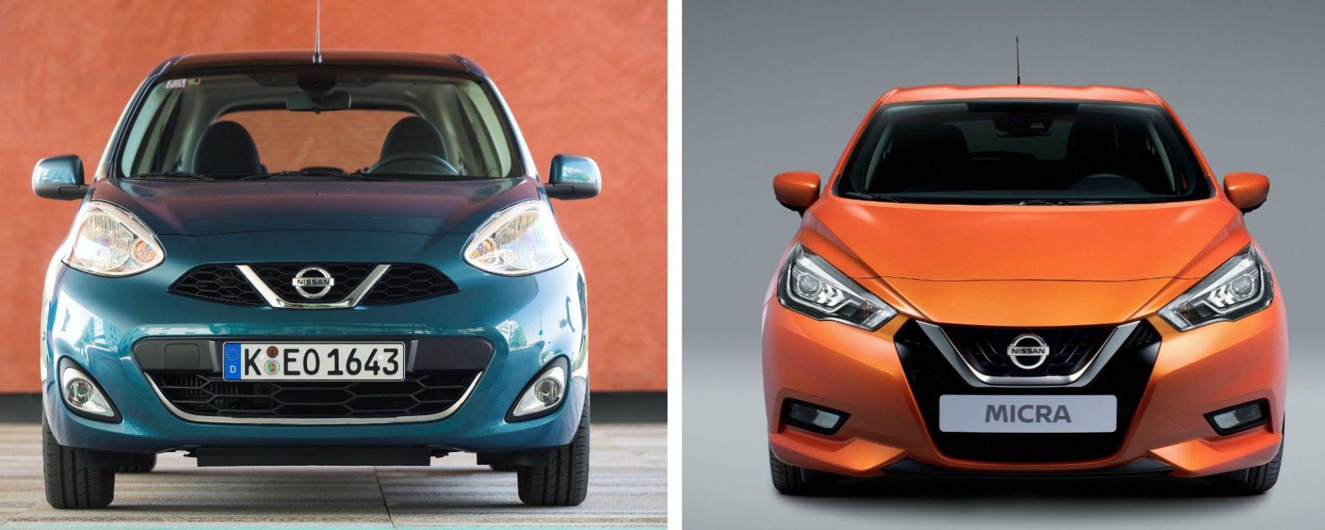 Nuova Nissan Micra vs Nissan Micra fine serie