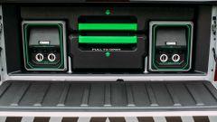 Nissan Navara EnGuard: ha sette batterie estraibili, derivate da quelle della Leaf