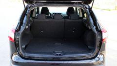 Nissan Qashqai: il bagagliaio con divanetto in posizione misura 430 litri