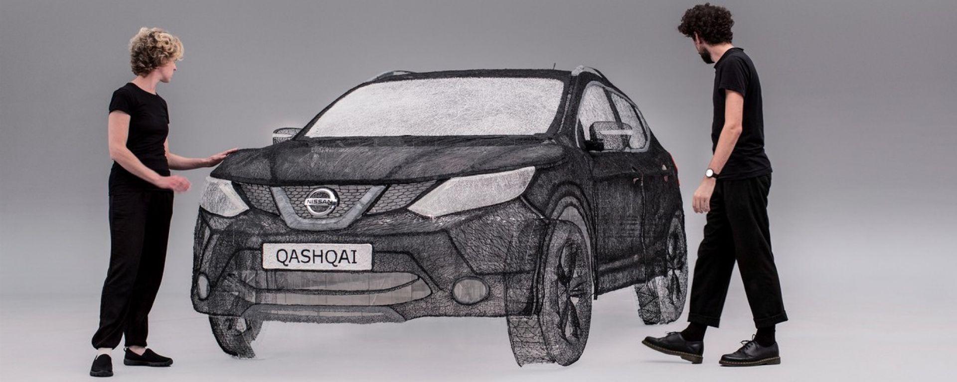 Nissan Qashqai: c'è chi l'ha fatta con la penna 3D (video)