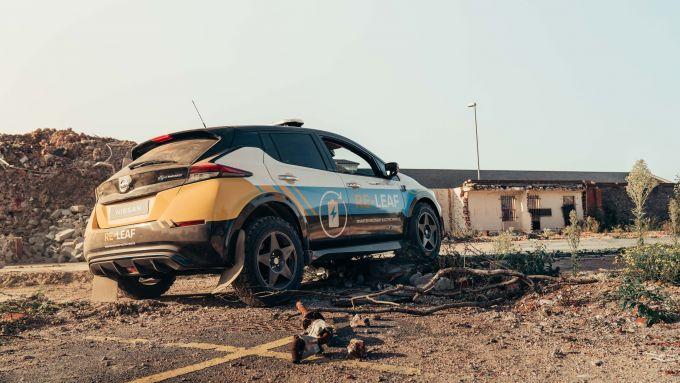 Nissan Re-Leaf: modificato l'assetto per muoversi in condizioni difficili