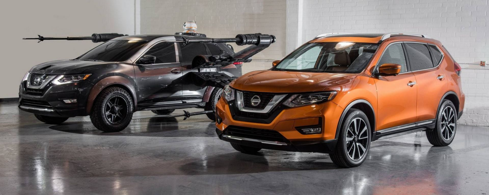 Nissan Rogue Poe Dameron's X-wing with BB-8