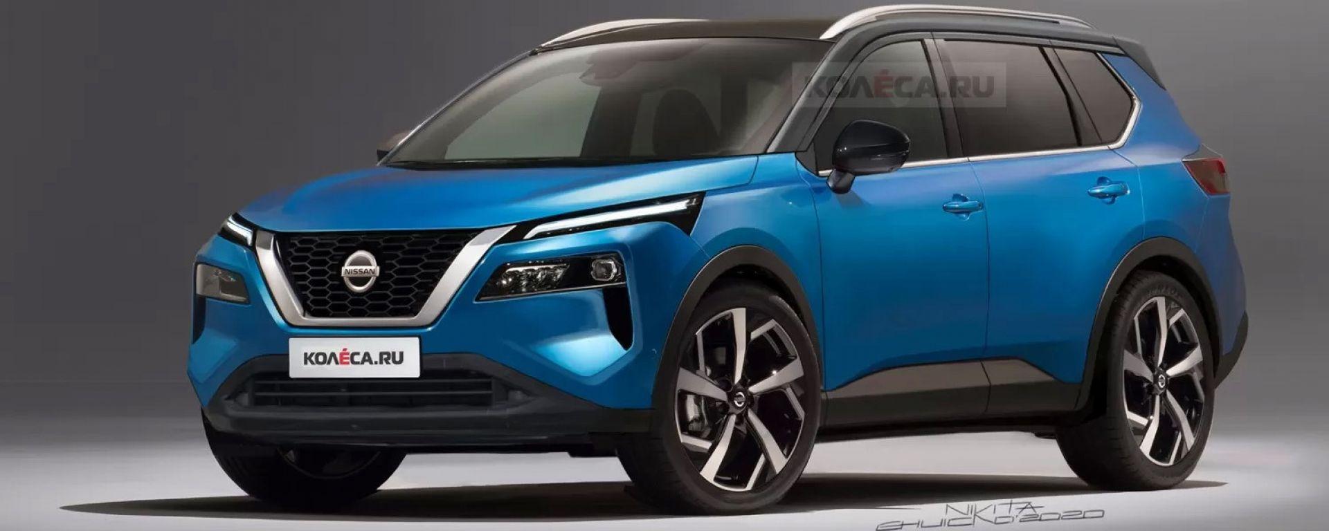 Nissan X-Trail 2021, il render di Nikita Chuiko