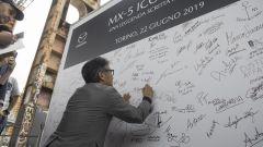 Nobuhiro Yamamoto sign mx5's wall