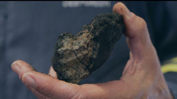 Nodulo di manganese di fondale marino
