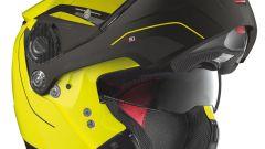 Nolan N90-2 Straton Yellow, con mentoniera aperta