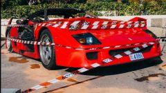 Non sono chiari i motivi dell'incendio della Ferrari F40