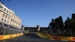 Norris in pista a Baku