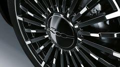 Nuova 500 elettrica: particolare dei cerchi in lega