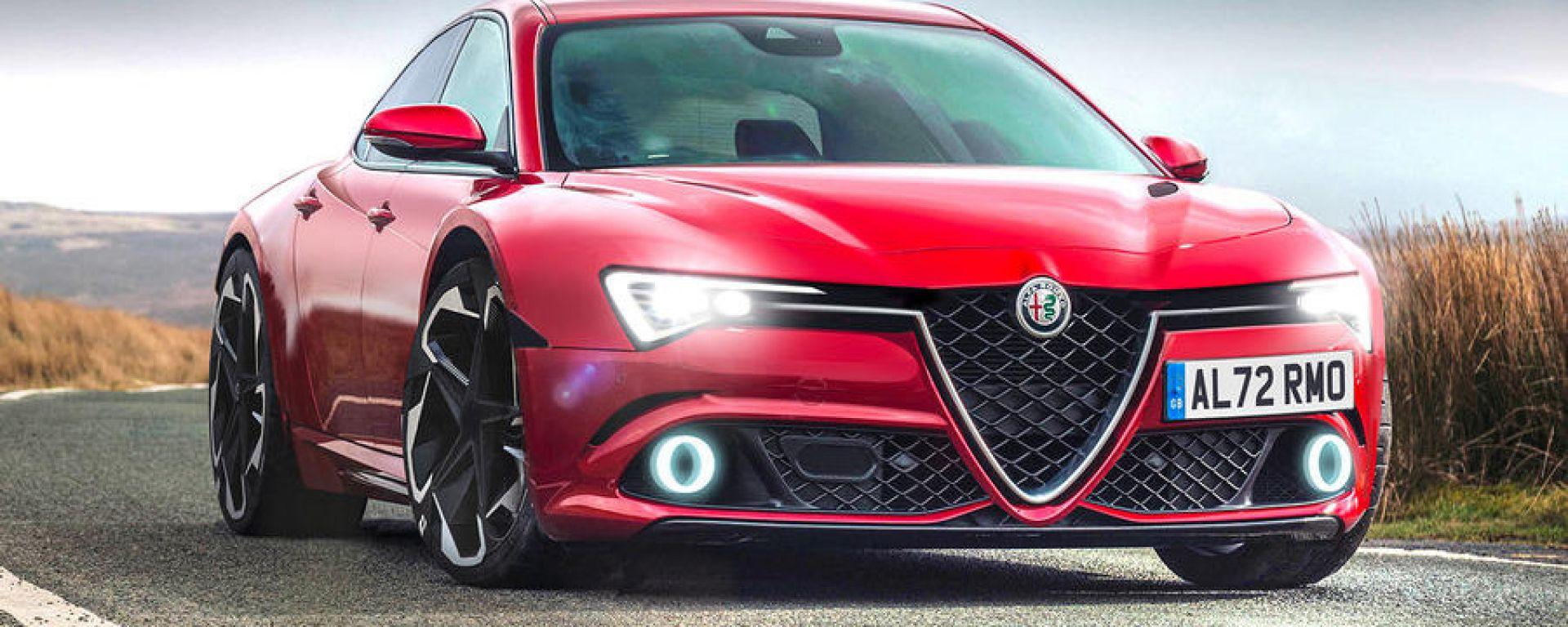Nuova Alfa Romeo GTV, in cantiere una coupé 4 porte? Il rendering