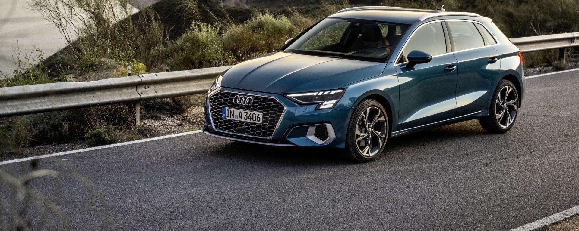Nuova Audi A3, a listino il mild-hybrid. Tutte le versioni