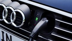 Nuova Audi A3 in versione e-tron: la presa per la ricarica dell'brida plug in