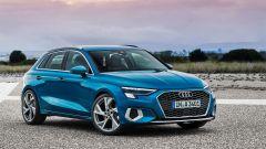 Nuova Audi A3 Sportback 2020: vista 3/4 anteriore