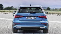 Nuova Audi A3 Sportback, il posteriore
