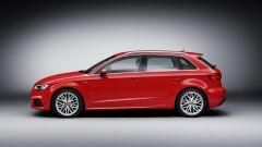 Nuova Audi A3 Sportback: vista laterale