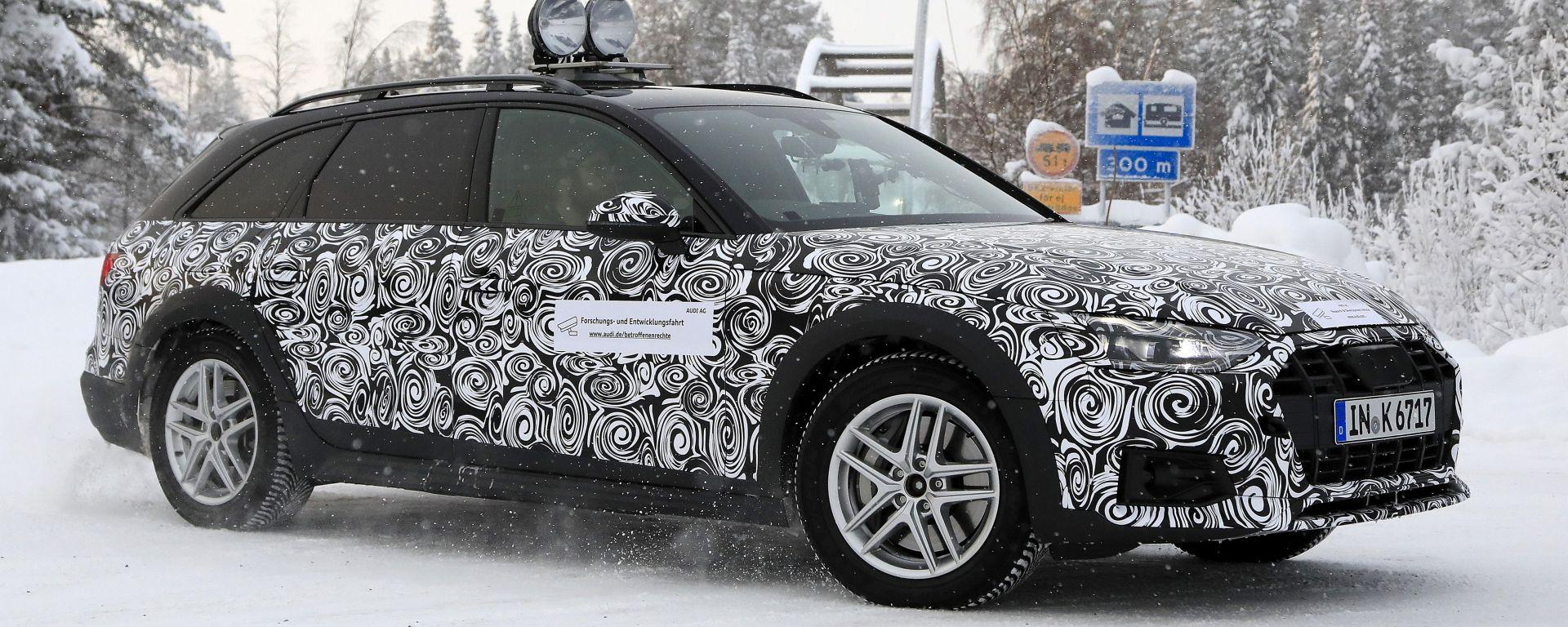 Nuova Audi A4 allroad: continuano i test su strada