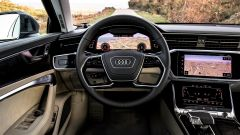 Nuova Audi A6 2018: si noti il quadro strumenti 'Audi Digital Cockpit