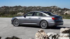 Nuova Audi A6 2018: si notino i fianchi posteriori di taglio sportivo