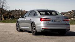 Nuova Audi A6 2018: vista 3/4 posteriore