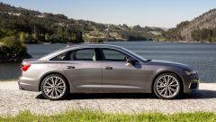 Nuova Audi A6 2018: vista laterale