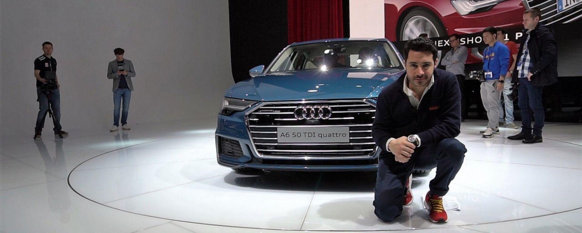Nuova Audi A6: in video dal Salone di Ginevra 2018