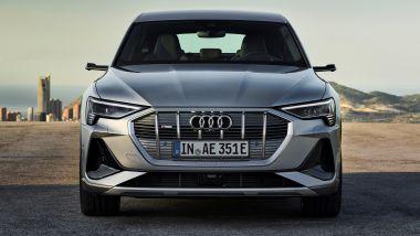Nuova Audi e-tron Sportback: dettaglio anteriore