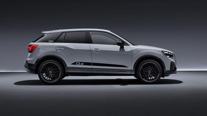 Nuova Audi Q2 2021: visuale laterale