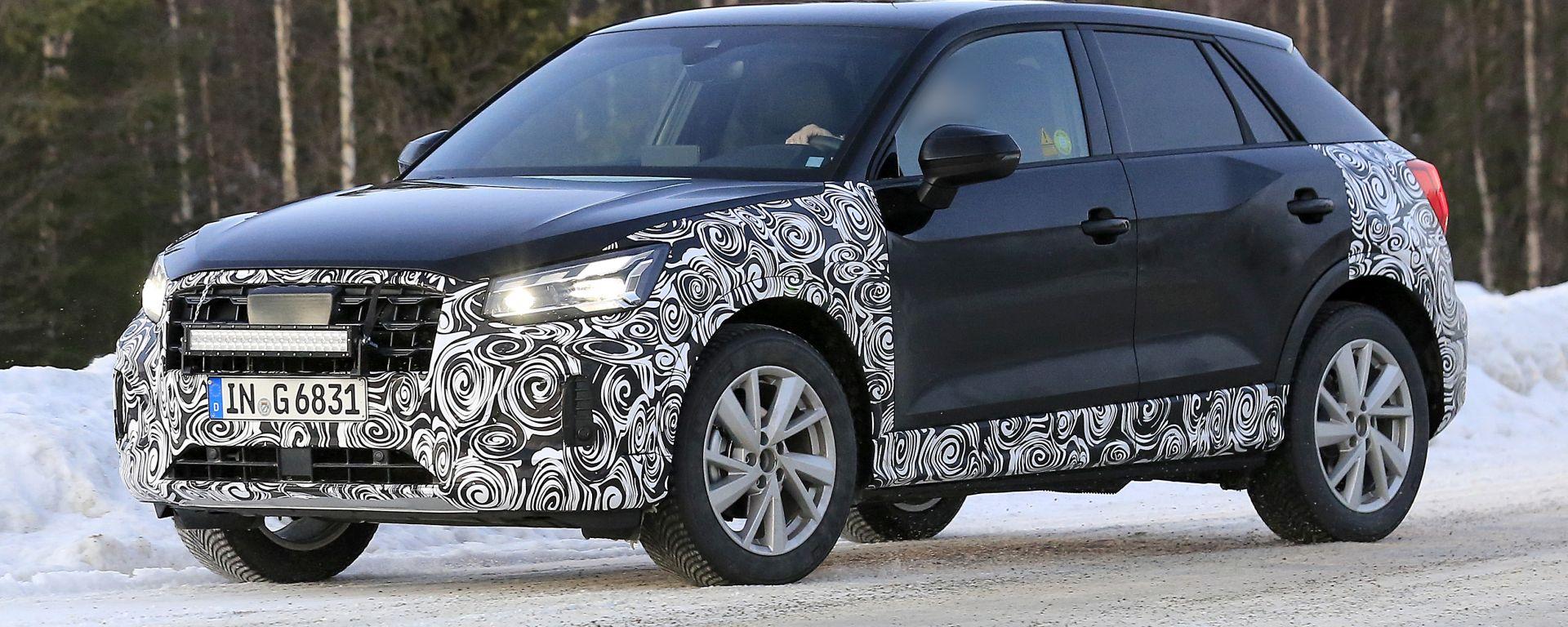 Nuova Audi Q2: il 3/4 anteriore
