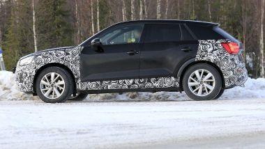 Nuova Audi Q2: vista laterale