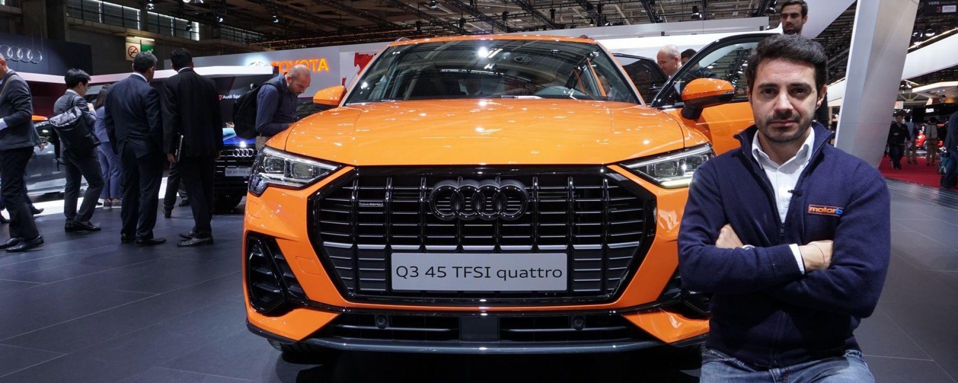 Nuova Audi Q3 2018 in video dal Salone di Parigi 2018