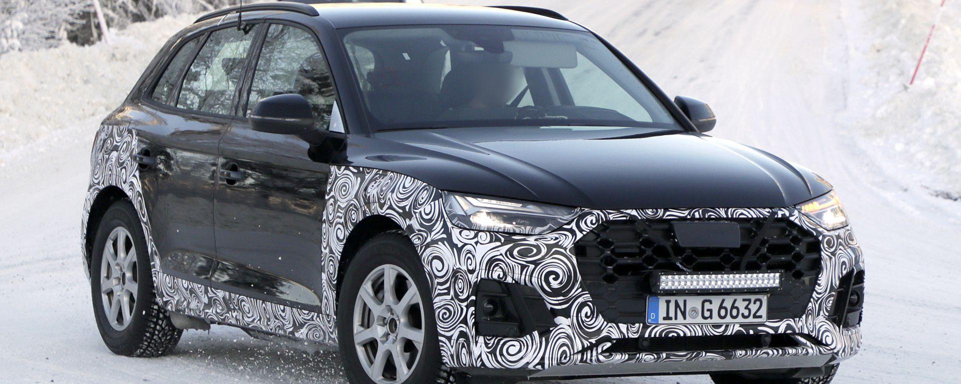 Nuova Audi Q5 2020: il prototipo durante i test invernali