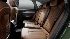 Nuova Audi Q5 2020: notevole lo spazio per i passeggeri seduti dietro