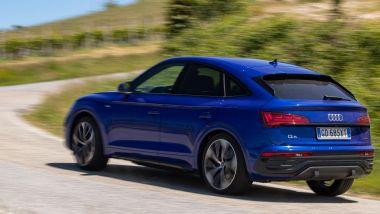 Nuova Audi Q5 Sportback PHEV: la prova della versione S Line con 367 CV