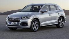 Nuova Audi Q5, vista di tre quarti anteriore