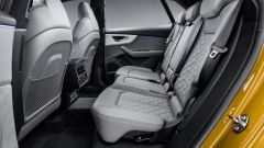 Nuova Audi Q8 2018, il divano posteriore