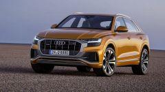 Nuova Audi Q8 2018, vista frontale