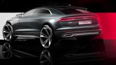 Nuova Audi Q8, il teaser di 3/4 posteriore