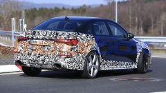 Nuova Audi RS3: il 3/4 posteriore della Sedan mette in mostra il terzo volume del bagagliaio