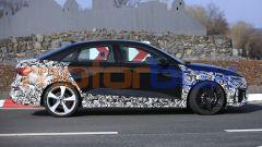 Nuova Audi RS3: il profilo della versione Sedan a tre volumi