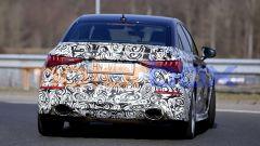 Nuova Audi RS3: la coda della Sedan a due volumi con i fari full LED