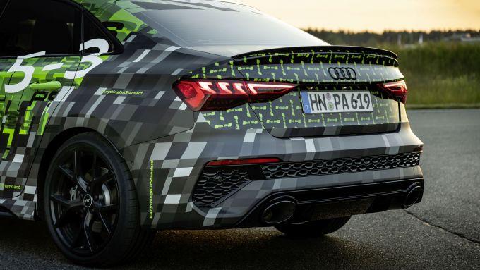 Nuova Audi RS3 Sedan 2021: il posteriore sportivo