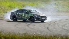 Nuova Audi RS3 Sedan 2021: impegnata in un drift