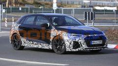 Nuova Audi RS3 Sedan e Sportback: i muletti della RS3 Sportback su strada