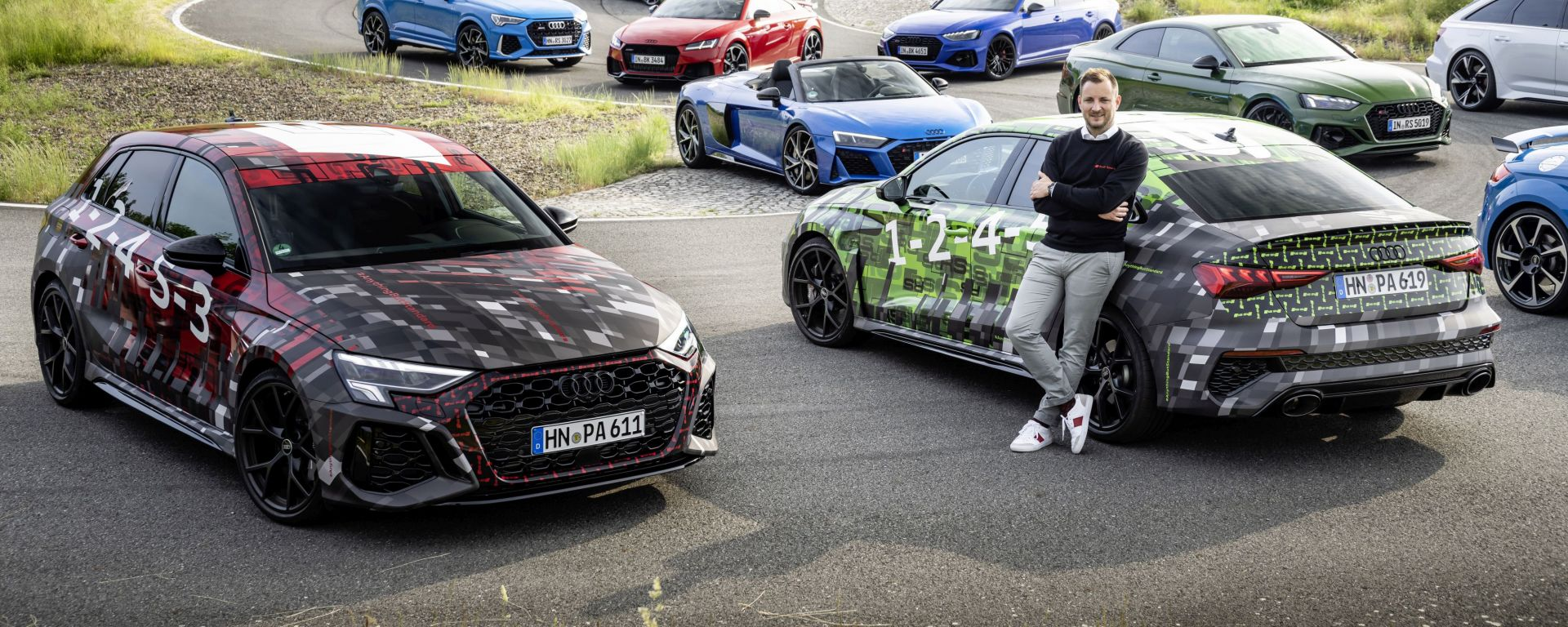 Nuova Audi RS3 Sedan e Sportback: le prime foto ufficiali