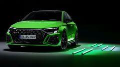 Nuova Audi RS3 Sedan: visuale di 3/4 anteriore